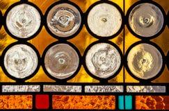 玻璃多彩多姿的被弄脏的视窗 免版税图库摄影
