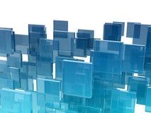 玻璃多维数据集 免版税库存图片