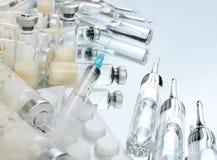 玻璃小瓶疫苗 库存图片