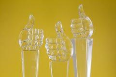 玻璃小雕象 库存图片
