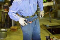 玻璃工厂劳工 免版税库存照片