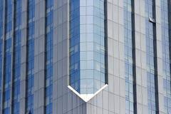 玻璃悬墙 免版税库存照片