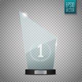玻璃战利品奖 在透明背景的传染媒介例证 库存照片