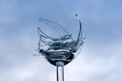 玻璃打碎了 库存照片