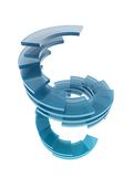 玻璃抽象梯子 免版税库存照片