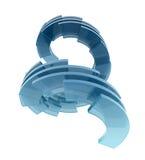 玻璃抽象梯子 免版税库存图片