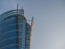 玻璃摩天大楼的上面 库存图片