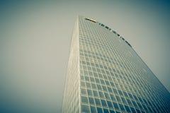 玻璃摩天大楼角落 库存照片