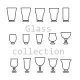 玻璃收藏-传染媒介剪影 库存图片