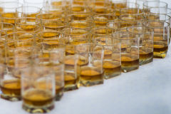 玻璃查出威士忌酒白色 库存照片