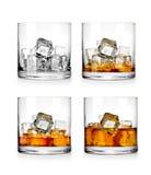 玻璃查出的反映威士忌酒白色 库存照片