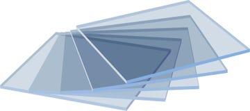 玻璃桌 免版税库存图片