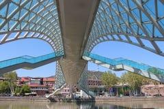 玻璃桥梁在第比利斯,乔治亚 库存照片