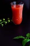 玻璃汁液蕃茄 图库摄影