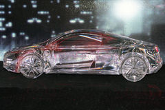 玻璃汽车模型 免版税库存图片