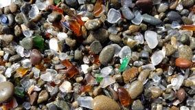 玻璃海滩 免版税库存图片