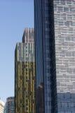 玻璃液大厦建筑学黄昏西雅图Washin 库存照片