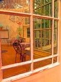 玻璃温室在伍德斯托克庭院, Co里 爱尔兰基尔肯尼 图库摄影