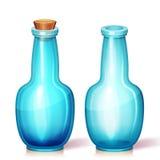 玻璃烧瓶的传染媒介例证 免版税库存图片