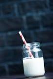 玻璃牛奶 图库摄影