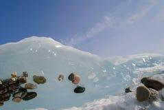 玻璃状冰 免版税库存照片