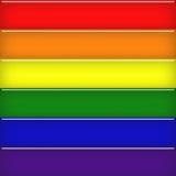 玻璃状彩虹旗子 库存图片