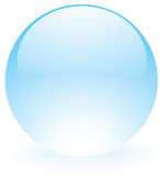 玻璃球形蓝色 免版税库存照片
