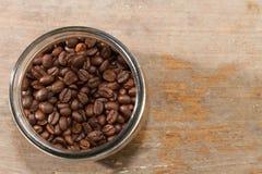 玻璃瓶和咖啡 免版税库存图片
