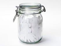 玻璃瓶子的人们 免版税库存图片