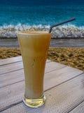 玻璃用咖啡 免版税库存图片