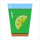 玻璃用新鲜的柠檬和水 向量例证