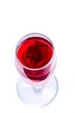 玻璃用红葡萄酒和兰花 库存图片