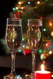 玻璃用香槟 免版税库存图片