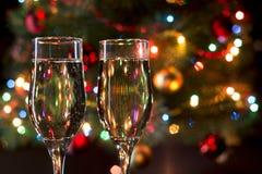 玻璃用香槟 库存图片