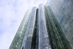 玻璃电梯 免版税库存照片