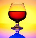 玻璃白兰地酒 库存照片