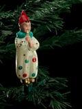 从玻璃的圣诞节树装饰 库存照片