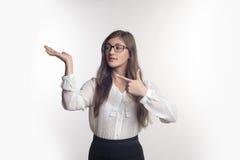 玻璃的女勤杂工 免版税库存图片