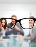 玻璃的综合图象 免版税库存照片