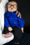 玻璃的婴孩 免版税图库摄影