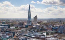 玻璃碎片 伦敦全景从圣Pauls大教堂的 图库摄影