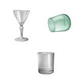 玻璃碗筷小玻璃,绿色玻璃,觚 免版税库存照片