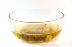 玻璃碗面条 免版税库存照片