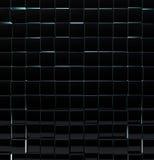 黑玻璃立方体 免版税库存图片