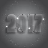 玻璃第2017年 免版税库存照片