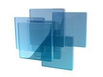 玻璃箱子 免版税库存照片