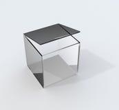 玻璃箱子 向量例证