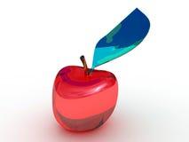 玻璃苹果计算机 库存照片
