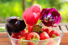 玻璃草莓 库存图片