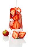 玻璃草莓 图库摄影